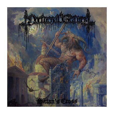 """NOCTURNAL GRAVES """"Satan's Cross"""" LP + 10""""EP"""