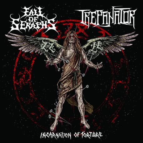 "FALL OF SERAPHS / TREPANATOR ""Incarnation Of Torture"" CD"