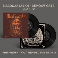 """MALOKARPATAN / DEMON'S GATE Split 7""""EP *PRE-ORDER*"""
