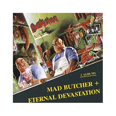 "DESTRUCTION ""Mad Butcher + Eternal Devastation"" CD"