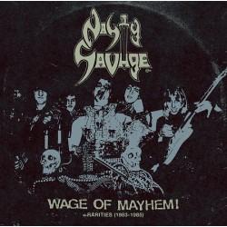 "NASTY SAVAGE ""Wage of Mayhem + Rarities 1983-85"" LP"