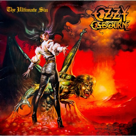 """OZZY OSBOURNE """"The Ultimate Sin"""" LP"""