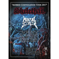 "SKELETHAL ""Morbid Convocation Tour 2017"" Affiche A3"
