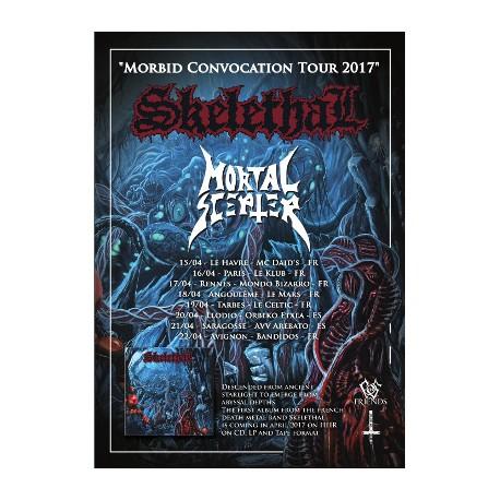"SKELETHAL ""Morbid Convocation Tour 2017"" Affiche A3"