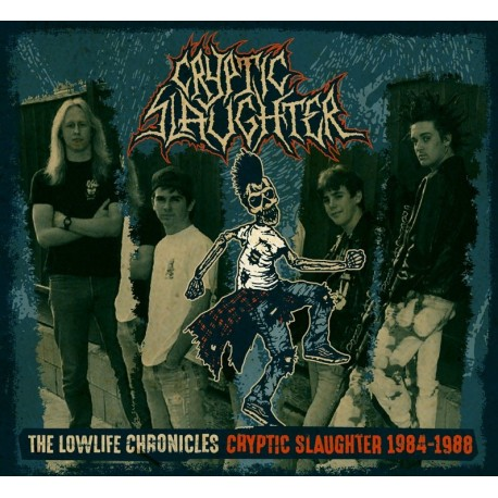 """CRYPTIC SLAUGHTER """"The Lowlife Chronicles 84-88"""" CD/DVD"""
