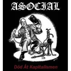 "ASOCIAL ""Död åt kapitalismen"" LP"
